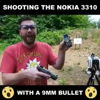 📹मजेदार वीडियो📹 - SHOOTING THE NOKIA 3310 WITH A 9MM BULLET । - ShareChat