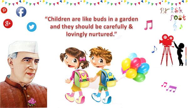 బాలల దినోత్సవ శుభాకాంక్షలు - Brisk Sost Children are like buds in a garden and they should be carefully & lovingly nurtured . - ShareChat