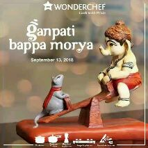 Bhakti Gifs - WONDERCHEF Cook with Pride ganpati bappa morya September 13 , 2018 Cookware Pressure Cookers Flectrical Appliances Large Appliances Tools & Accessories - ShareChat