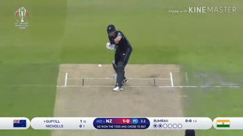 🏏IND vs NZ - Made with KINE MASTER ICC CRICKET WORLD CUP 2019 Booking . com NIET NISSAN ISSAN Ne AN SAN ISSAN NISSA 1 - 0 1 . 3 GUPTILL NICHOLLS 114 07 IND v NZ 1 - 1 P13 . 3 NZ WON THE TOSS AND CHOSE TO BAT BUMRAH OOwO00 Made with KINEMASTER ISSAN - ShareChat