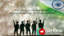 స్వాతంత్ర  దినోత్సవం స్టేటస్ - Pay tribute to the real Heroes who sacrificed their life for our freedom ANSAMOSA - ShareChat