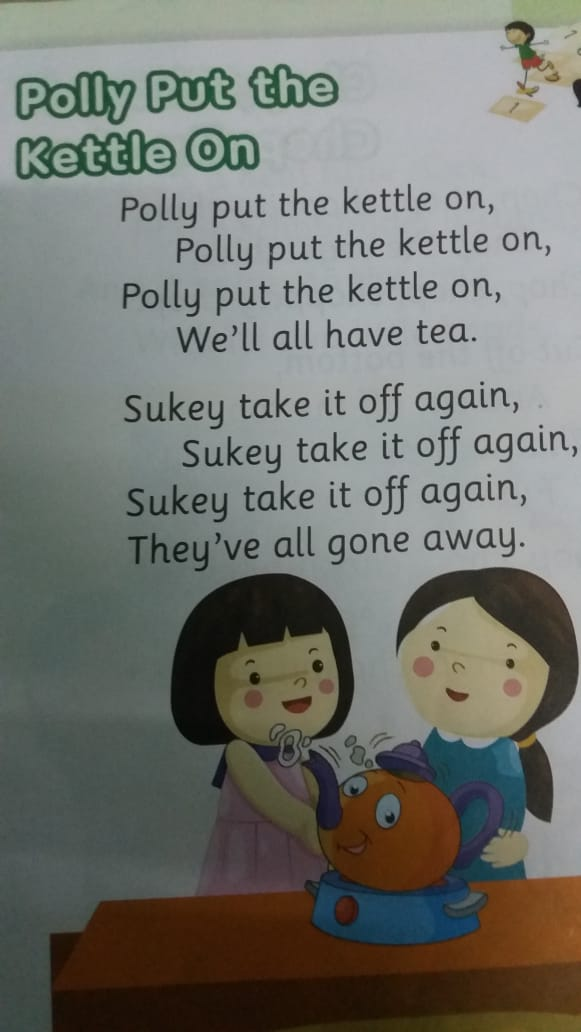 🤩Rhymes - Polly Put the Kettle On Polly put the kettle on , Polly put the kettle on , Polly put the kettle on , We ' ll all have tea . Sukey take it off again , Sukey take it off again , Sukey take it off again , They ' ve all gone away . - ShareChat