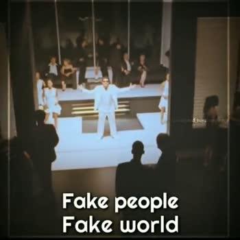 #fake - In d oor creation Fake people Fake world Fake people Fake world - ShareChat