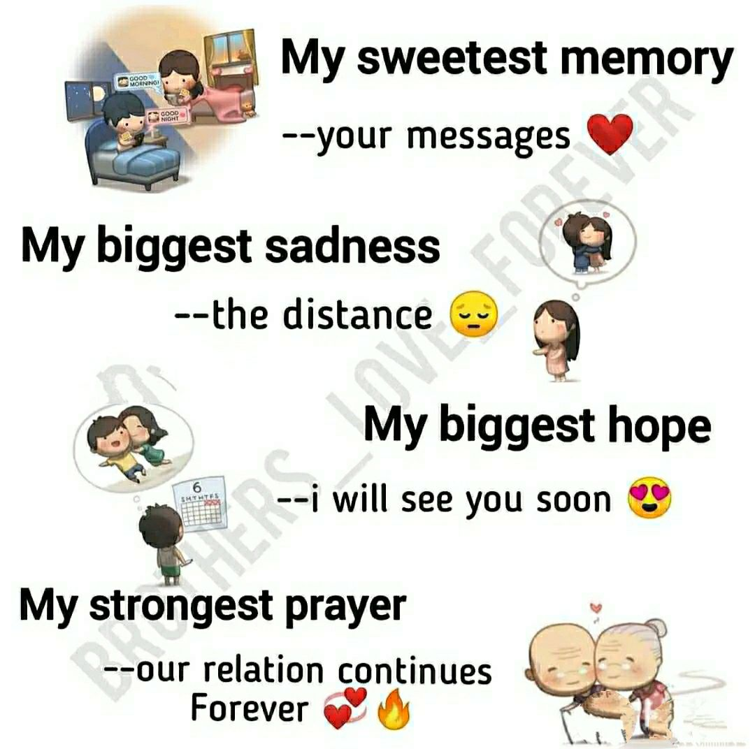 💝दिल का रिश्ता - GOOD MORNING My sweetest memory - - your messages GOOD NOUT My biggest sadness - - the distance My biggest hope - - i will see you soon The song My strongest prayer - - our relation continues Forever - ShareChat