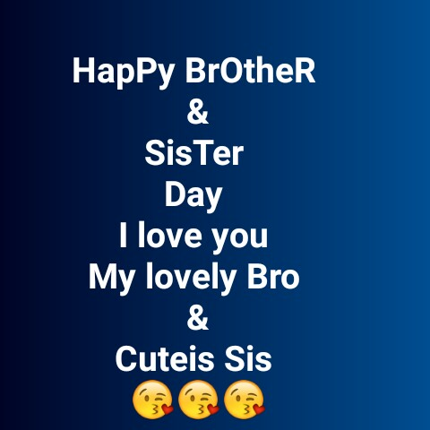 😍😍 love you 😘😘😘 - Happy Brother Sis Ter Day I love you My lovely Bro Cuteis Sis - ShareChat