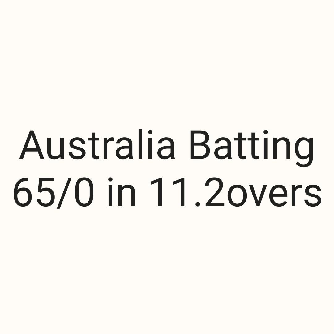 IND VS AUS 3rd ODI - Australia Batting 65 / 0 in 11 . 2overs - ShareChat