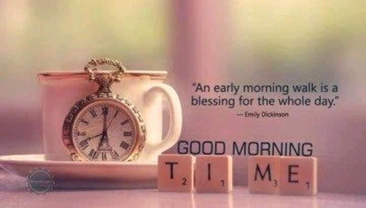 🌞সুপ্রভাত - An early morning walk is a blessing for the whole day . - - Emiy Dickinson GOOD MORNING ME - ShareChat