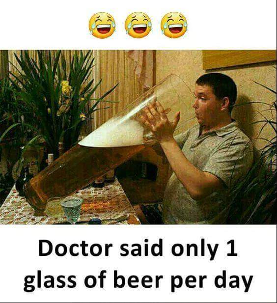 😎GIFs - 29 Doctor said only 1 glass of beer per day - ShareChat
