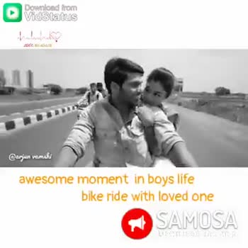 ❤️🎵లవ్ సాంగ్స్ - Download from Vidstatus VIDEO VOLGA இவர்யா wயாயப் awesome moment in boys life bike ride with loved one SAMOSA Download from இயறிய பொப் awesome moment in boys life bike ride with loved one SAMOSA THE - ShareChat