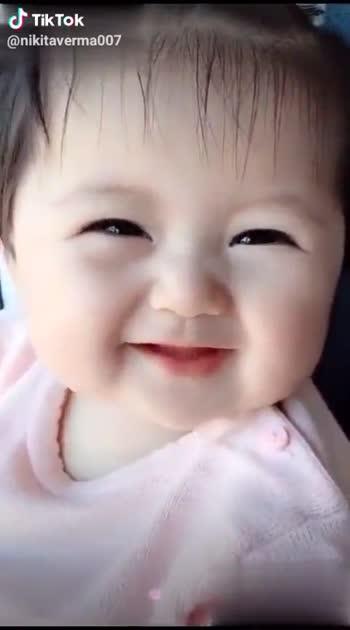 cute baby😘 - @ nikitaverma007 Tiktoker @ nikitaverma007 - ShareChat