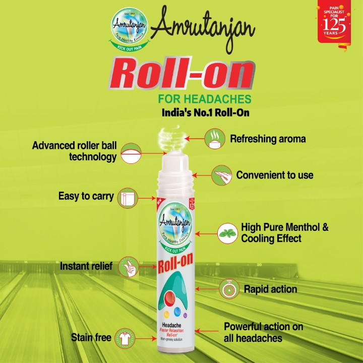 medical profession - PAIN SPECIALIST • FOR YEARS et Amoutanjan Roll - on KICK OUT PAYA FOR HEADACHES India ' s No . 1 Roll - On Refreshing aroma Advanced roller ball technology Convenient to use Easy to carry Amrutanian 0 High Pure Menthol & Cooling Effect POS OUT PAS Instant relief ya Roll - O11 O Rapid action Stain free Headache Fuster Relation Rollo linger Powerful action on all headaches - ShareChat
