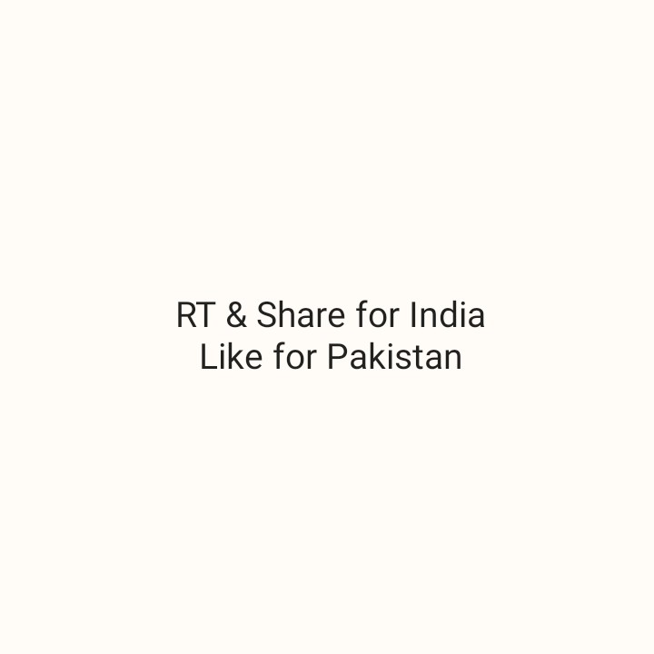 🏆 IND 🇮🇳 vs PAK 🇵🇰 - RT & Share for India Like for Pakistan - ShareChat