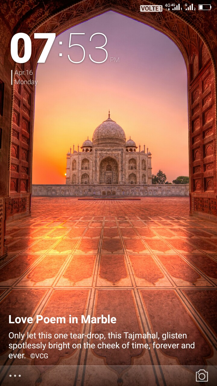 चित्रकूट धाम - VOLTET | | Sol , O 07 : 53 Apr . 16 Monday SEE Love Poem in Marble Only let this one tear - drop , this Tajmahal , glisten spotlessly bright on the cheek of time , forever and ever . ©VCG - ShareChat