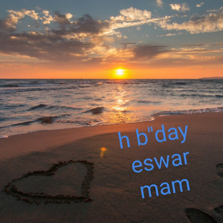 name art - h b day eswar mam - ShareChat