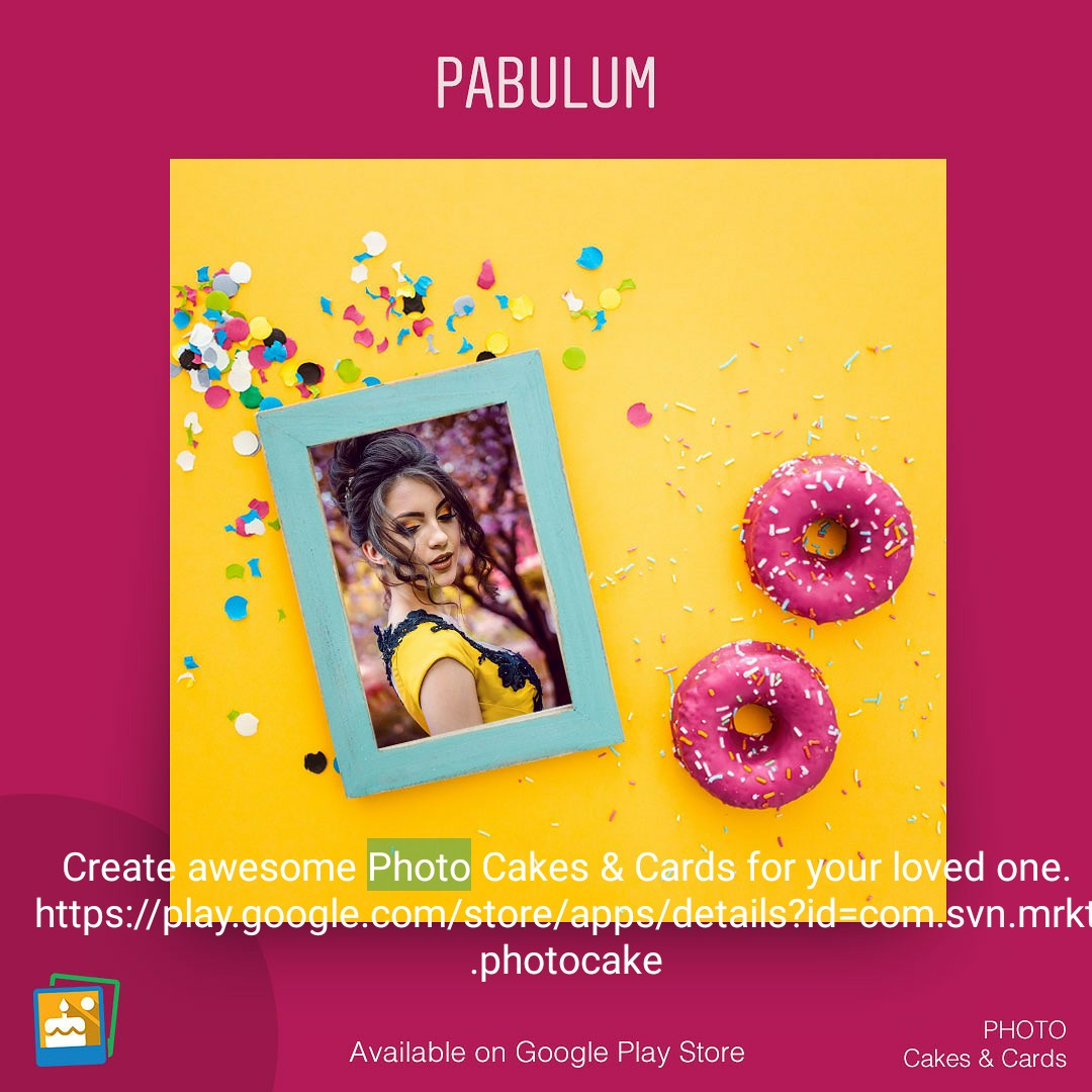 🎂 જન્મદિવસ - PABULUM Create awesome Photo Cakes & Cards for your loved one . https : / / play . google . com / store / apps / details ? id = com . svn . mrkt . photocake Available on Google Play Store PHOTO Cakes & Cards - ShareChat