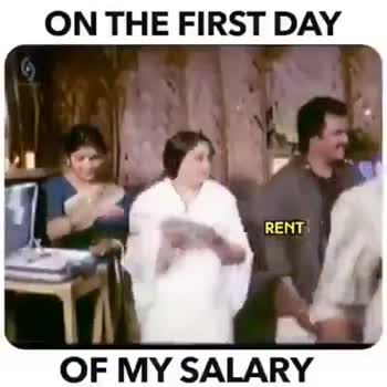 my salary - ON THE FIRST DAY OTHER INSTALLMENTS OF MY SALARY REST OF THE MONTH jedits - ShareChat