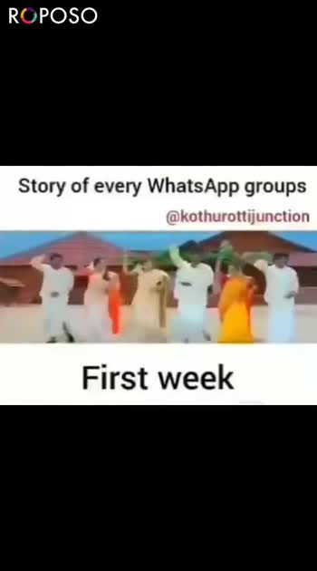 expectation vs reality - ROPOSO Story of every WhatsApp groups @ kothu ation After 1 month ROPOSO Install now : - ShareChat
