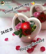 🌞ସୁପ୍ରଭାତ - पोस्ट करणारे @ guru000111 Posted On : ShareChat Good morning 24 . 02 . 19 Happy Sunday - ShareChat