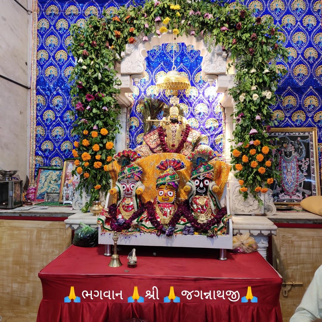 🙏 આજ નાં દર્શન - { MY FARALI fhI . . ભગવાન શ્રી જગન્નાથજી - ShareChat
