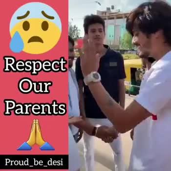 #ks_khushal - Respect Our Parents Proud _ be _ desi Respect Our Parents Proud _ be _ desi - ShareChat