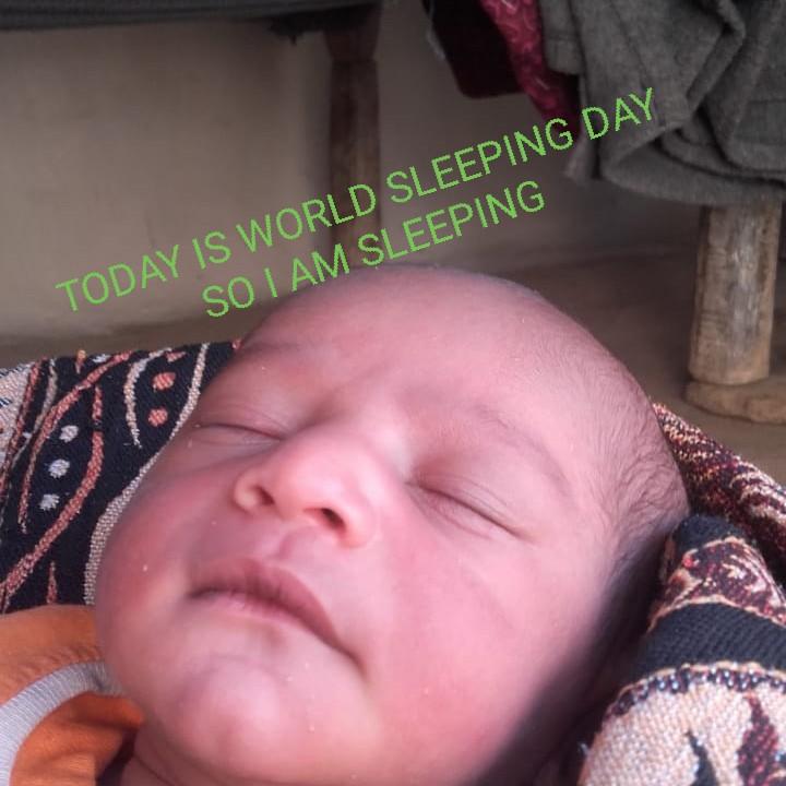 😴World Sleep Day - TODAY IS WORLD SLEEPING DAY SO I AM SLEEPING - ShareChat
