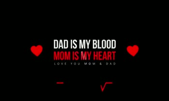 relation ship - DAD IS MY BLOOD MOM IS MY HEART 199VMO DAD IS MY BLOOD MOM IS MY HEART LOVE YOU MOM & DAD - ShareChat