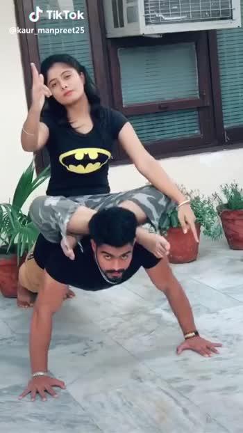 💪10 push-ups ચેલેન્જ - Tik Tok @ kaur _ manpreet25 @ kaur _ manpreet25 - ShareChat