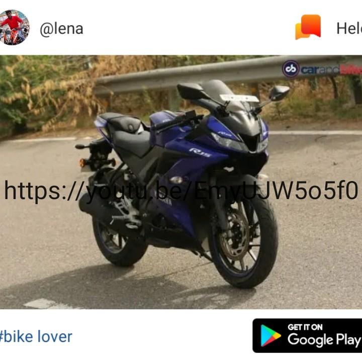 hi - @ lena Hel . cb carac https : / / UJW505f0 GET IT ON # bike lover Google Play - ShareChat