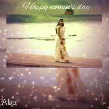 women's day special - Happy woment ' du பெ Abu Hapur nichen ' s day கரைதொடும் நுரைகளே As நுரைகளில் இவள் முகமே - ShareChat