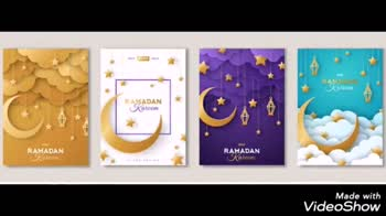 🎶 રમઝાન ગીતો - DIN Ramadan KAREEM Made with VideoShow Eid Mubarak Made with VideoShow - ShareChat