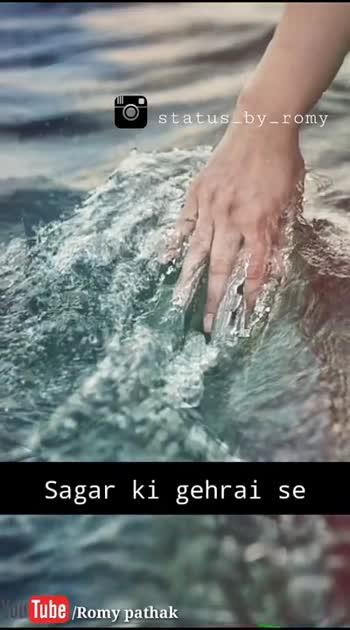 only for my  love😘😘 - status - by - romy Tube / Romy pathak status - by - romy khafa ho gaye hum Tube / Romy pathak - ShareChat