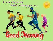 🌞সুপ্রভাত - A nice day to jog Here ' s wishing you No . . am Good Morning - ShareChat