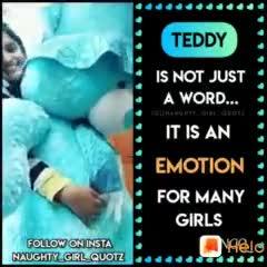 teddy bear - dddddddddddd TEDDY IS NOT JUST A WORD . . . IT IS AN EMOTION FOR MANY GIRLS Melo FOLLOW ON INSTA NAUGHTY GIRL QUOTZ dddddddddd TEDDY IS NOT JUST A WORD . . . IT IS AN EMOTION FOR MANY GIRLS Welc FOLLOW ON INSTA NAUGHTY GIRL QUOTZ - ShareChat