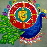 दिवाली की रंगोली - ShareChat