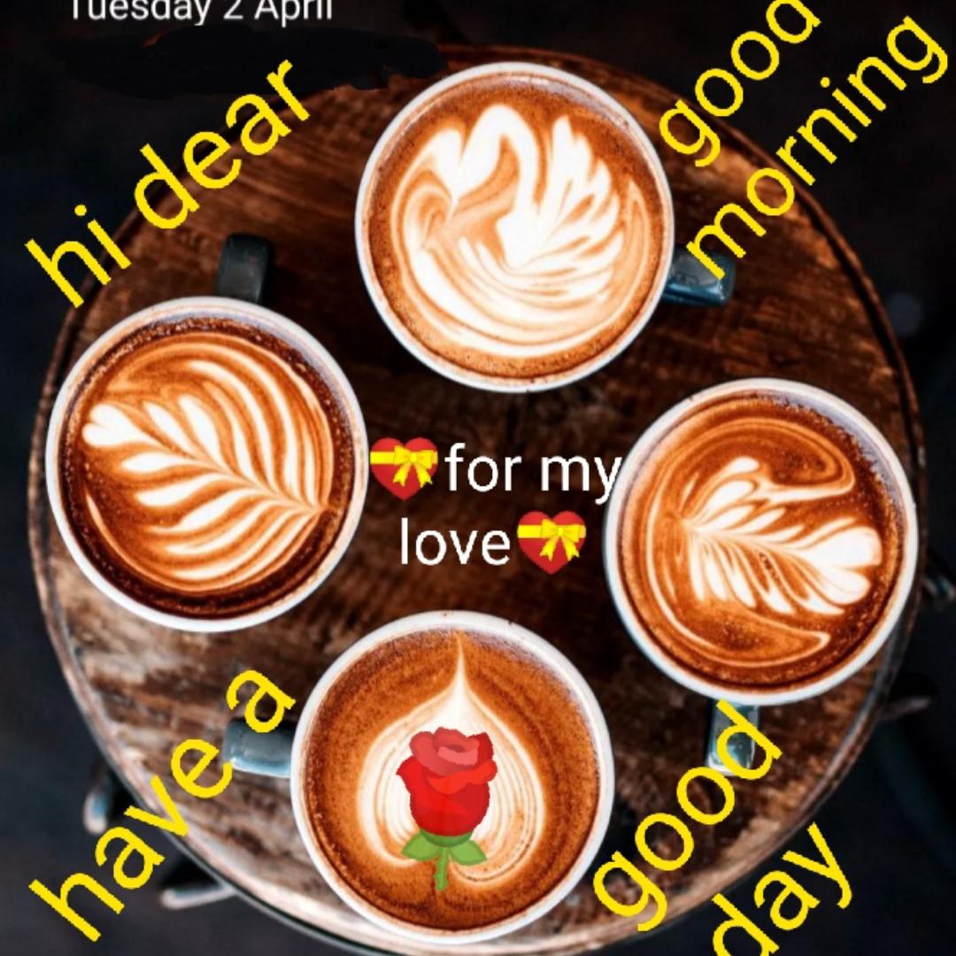 🌞 সুপ্ৰভাত - Tuesday 2 April good buruow hi dear - * for my love * have a poob day - ShareChat