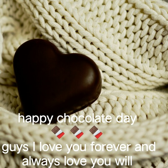 ShareChat Champion - happy chocolate day guys I love you forever and always love you will - ShareChat