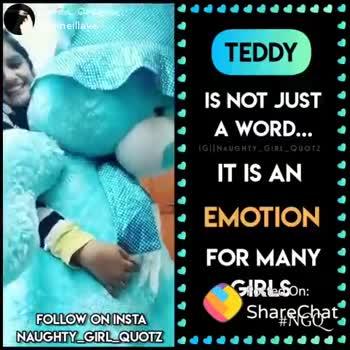 காதல் பாடல் - போஸ்ட் செய்தவர் : @ timeillaye TEDDY IS NOT JUST A WORD . . . IGINAUGHTY _ GIRL _ QUOTZ IT IS AN EMOTION FOR MANY GIRLS # NGQ _ . . . . FOLLOW ON INSTA NAUGHTY _ GIRL _ QUOTZ ShareChat lvly queene timeillaye allah is our great saviour Follow - ShareChat