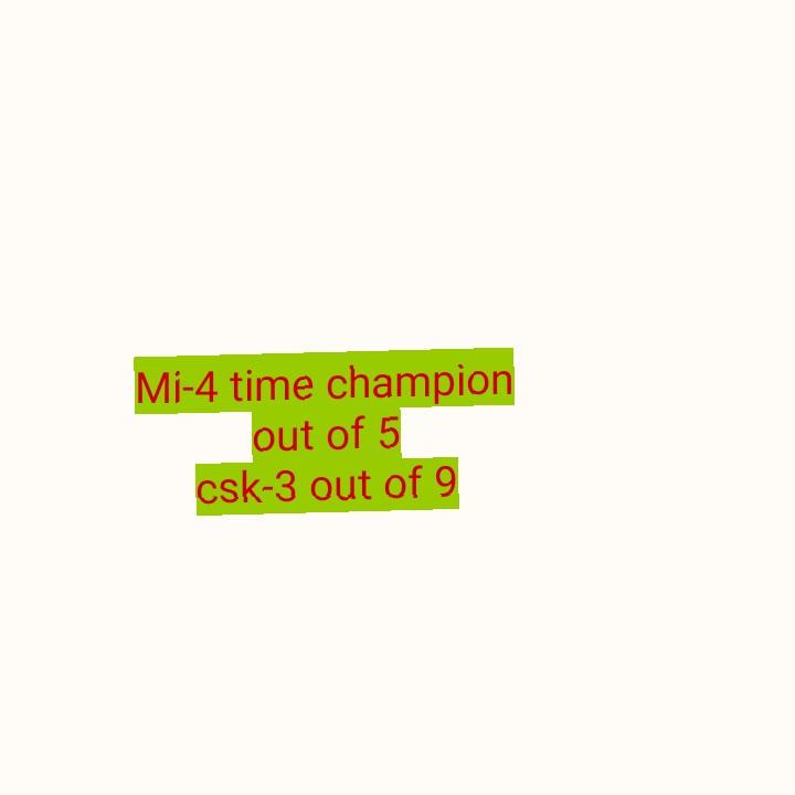 🏏CSK vs MI ଫାଇନାଲ ମ୍ୟାଚ - Mi - 4 time champion out of 5 csk - 3 out of 9 - ShareChat