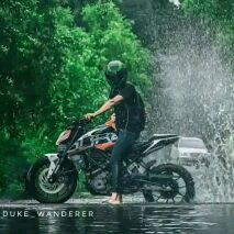bike stunt - DUKE WANDERER DUKE WANDERER - ShareChat