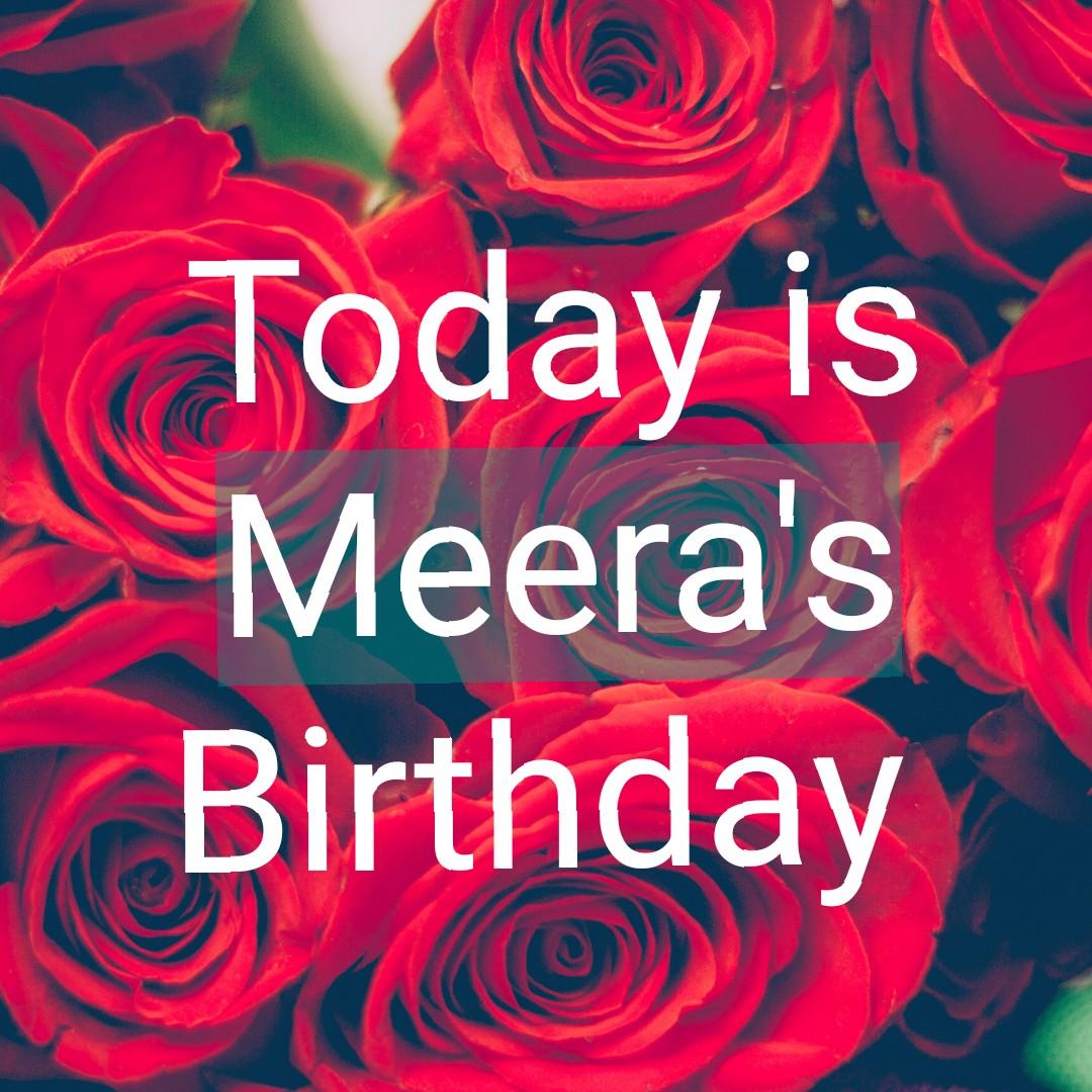 💐வாழ்த்து - Today is Meera ' s Birthday - ShareChat