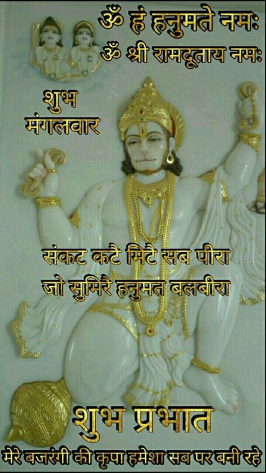 🌷शुभ मंगलवार - Aॐ हं हनुमते नमः ॐ श्री रामदूताय नमः शुभ मंगलवार संकट कटै मिटै सब पीरा जो सुमिरै हनुमत बलबीरा शुभ प्रभात मेरेबजरंगी की कृपा हमेशा सबपर बनीरहे - ShareChat