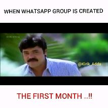 ತುಳು ನಾಡು - WHEN WHATSAPP GROUP IS CREATED GNOME @ Kirik _ Adda THE FIRST MONTH . . ! ! WHEN WHATSAPP GROUP IS CREATED @ Kirik _ Adda GROUP ADMIN . . ! ! - ShareChat