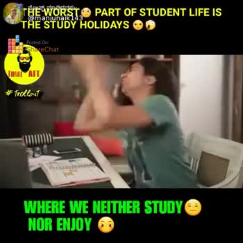last bench students..... - THE WORST PART OF STUDENT LIFE IS TÅE STUDY HOLIDAYS @ manjunaik 143 PreChat TROULAIT # Trollait WHERE WE NEITHER STUDY NOR ENJOY 60 ShareChat Manju naik manjunaik143 life is a game Follow - ShareChat