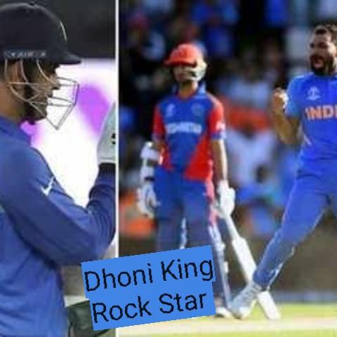 🏆వరల్డ్ కప్ పోల్స్ - INDI Dhoni King Rock Star - ShareChat