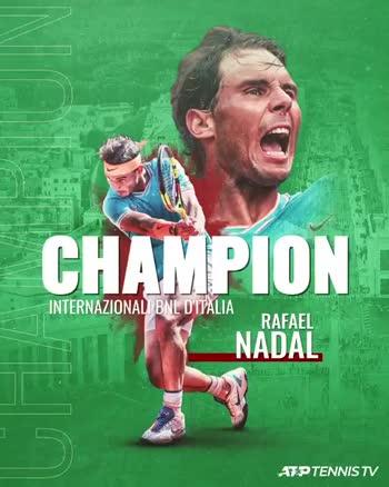🎾 டென்னிஸ் - CHAMPION INTERNAZIONAL BNL D ' ITALIA RAFAEL NADAL ATP TENNIS TV CHAMPION INTERNAZIONALI BNL D ' ITALIA RAFAEL NADAL AZPTENNIS TV - ShareChat