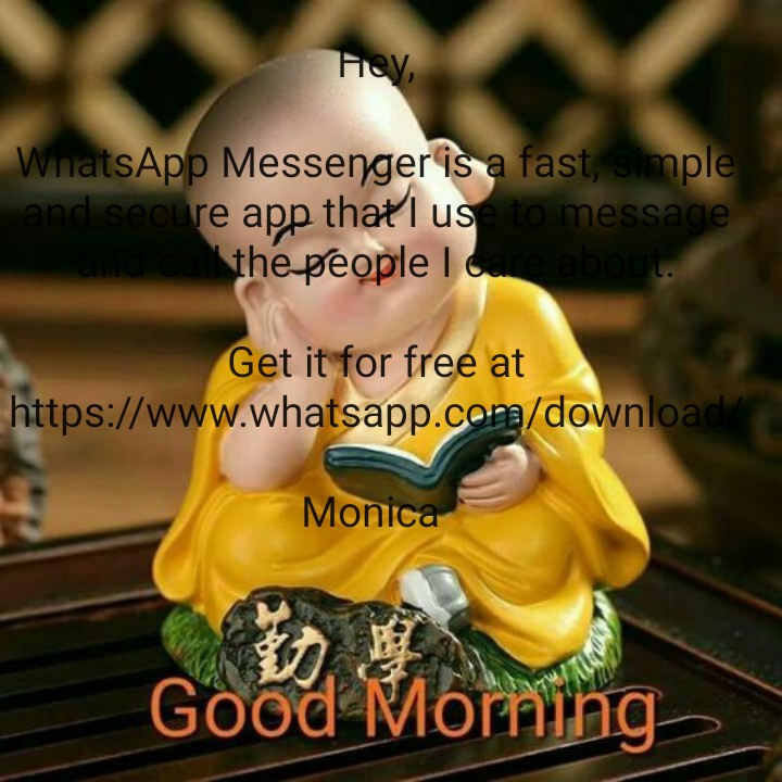 😹फनी जोक्स - Hey , WhatsApp Messenger is a fast , simple and secure app that I use to message , anual the people I cure about . Get it for free at https : / / www . whatsapp . com / download / Monica Good Morning - ShareChat