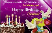 🎂 जन्मदिन 🎂 - As you celebrate your birthday . . . I celebrate you ! * Happy Birthday 2 st Sweetheart ! - ShareChat