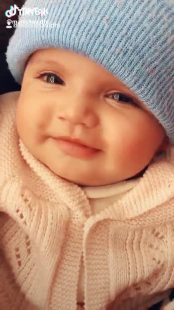 cute baby video - CJ Trik Tok : @ r @ manisaavadhi - ShareChat