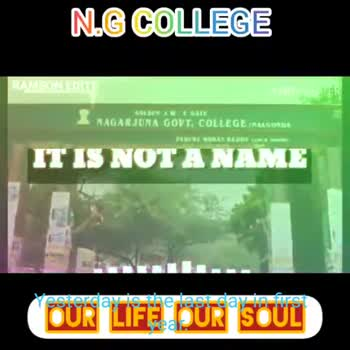college life - N . G COLLEGE RAMSON EDITS de with KINE MASTER Made with VideoShow Yesterday icelagavi - rurs OUR LIFE DUR STUL NG COLLEGE RAMSON EDITS with KINE MASTER Yesialaviseladavins ( OUR LIFE DUR SOUL - ShareChat