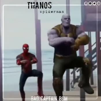 🎥Avengers End Game - THANOS 0000 spiderman BAD CAPTAIN _ BGM THANOS 0000 spiderman BAD CAPTAIN BGM - ShareChat